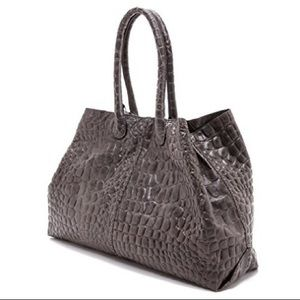 Liebeskind Chelsea Croc Embossed Leather Tote